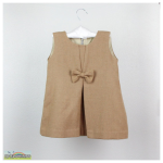 Camel wool Bow dress