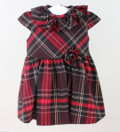 Os Estorninhos plaid dress